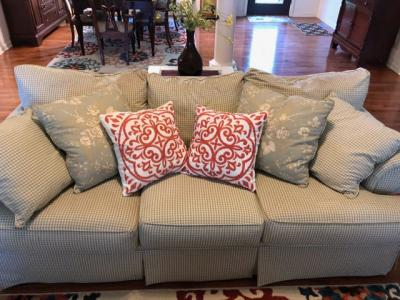Craftmaster Sofa with Throw Pillows