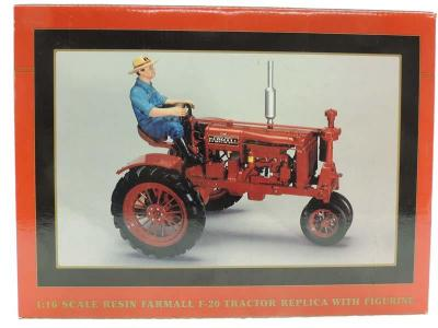 1/16th Spec Cast Resin Farmall F-20 w/Figurine