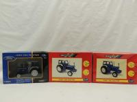 1/32nd Ertl/Britains Ford  (3)-tractors w/cabs